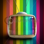 stock-photo--d-stylish-wooden-classic-tv-colorful-no-signal-background-61293748