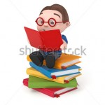 stock-photo-cute-boy-sitting-on-books-reading-d-rendered-isolated-147778490