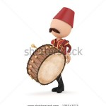 stock-photo--d-traditional-ramadan-drummer-isolated-135343712