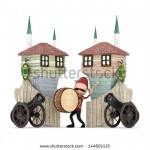stock-photo--d-ramadan-drummer-in-muslim-neighborhood-isolated-144601115
