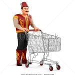 stock-photo--d-ramadan-drummer-with-shopping-cart-277701137